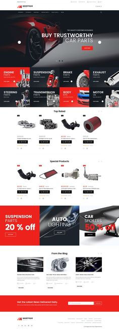 Auto Parts Magento 2 Theme - Are you in need of a ready-made Magento 2 design to sell car parts and equipment? Meet New Car Spare Parts Retina-Ready Magento Theme to promote your business online. Auto Spare Parts, Car Parts, Template Web, Website Template, Maquette Site Web, Intranet Design, Website Themes, Web Themes, Website Ideas