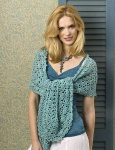 I'm making this one in white! Summer Crochet Wrap Pattern   FaveCrafts.com