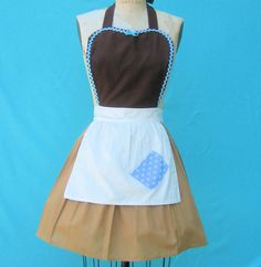 apron CINDERELLA  Work APRON  Princess style  womens full Apron from Lover Dovers. $32.00, via Etsy.