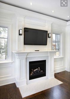 Love the bottom molding for built ins