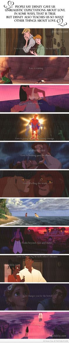 I can't believe people think Disney sets up impossible expectations of love. It's not Disney, it's people who can't see the beauty in the tales Disney animated. These tales are far older than Disney. Disney Pixar, Disney Amor, Deco Disney, Disney And Dreamworks, Disney Love, Disney Magic, Disney Stuff, Disney High, Disney Nerd