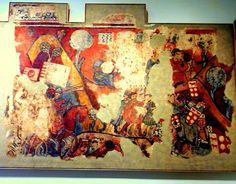 Batalla de Porto Pi a Mallorca. Pinturas goticas del MNAC procedesntes del Palau Caldes 1280