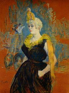 """Artwork history: Henri de Toulouse–Lautrec - """"The Seated Clowness (Mademoiselle Cha–u–Kao)""""  http://designmuitomais.blogspot.com.br/2014/11/a-historia-da-obra-de-arte-henri-de.html"""