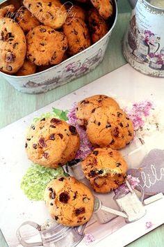 Ricas, deliciosas y fáciles de preparar!! Unas galletas con arándanos y chocolate.... sin gluten y sin lactosa. Ideales para compartir! ...