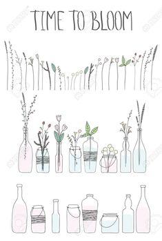 Image result for doodle bottles jars vases