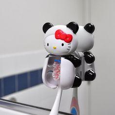 Officially Licensed Sanrio Panda Hello Kitty Flipper Toothbrush Holder