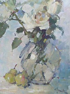 Rose Poem by Nancy Franke Oil ~ 16 x 12