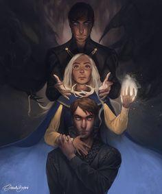 gabriella.bujdoso: The Darkling, Alina and Mal