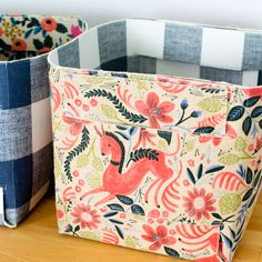 Show Off Saturday... BIG fold up baskets! — SewCanShe | Free Daily Sewing Tutorials