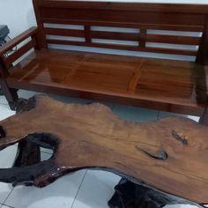 Natural Table Set Iron Wood