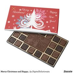 Merry Christmas and Happy New Year red Assorted Chocolates