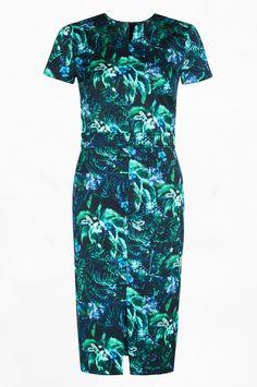 Raisa Dress Arue Palm   Spring Summer 2015   Erdem.com