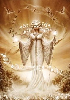 """Lada - The Slavic goddess of love, beauty, marriage spring and is also known as the """"Lady of the Flowers"""""""