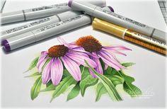 Illustration using Kirarina metallic inks by Debby Olson