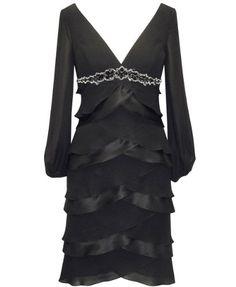 #FashionBug Plus Size Black Chiffon Dress