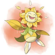"""The thought that there's a Pokemon that looks like Flowey, fills you with determination"""