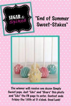 Cake pops just happened to be in your colors!