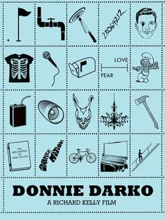 Donnie Darko - Iconic Film Posters: Telling stories in simplicity by Peter Stults, via Behance