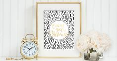 Count Your Blessings Hand Lettered Gold Foil Print by Kern + Flourish | $28 #loveonyourwalls #kernandflourish