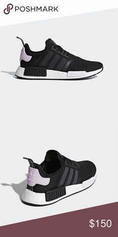 Adidas NMD Women s Shoes Black Pink New with box adidas NMD sneakers in  Core Black Cloud White Clear Pink. f7807d446