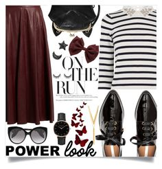 """""""Power Look : On The Run"""" by loloksage ❤ liked on Polyvore featuring MM6 Maison Margiela, Oasis, Alexander McQueen, Topshop and BERRICLE"""