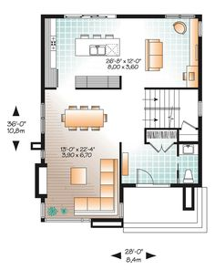 Contemporary Modern Level One of Plan 76317