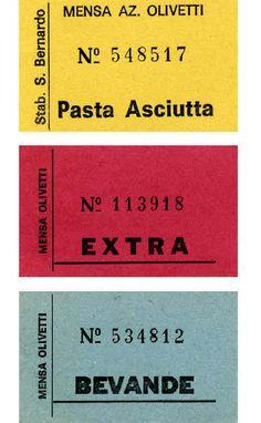 Buoni per la mensa Olivetti
