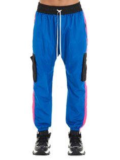 Daniel Patrick Cargo Parachute Techno Track Pants In Cobaltbluewildflowerpinkblack Daniel Patrick, Techno, Parachute Pants, Track, Mens Fashion, Legs, Blue, Clothes, Shopping