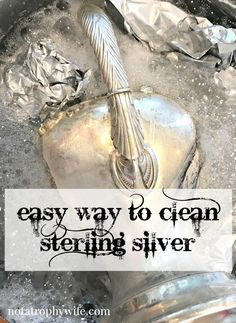 Here is an easy way to clean sterling silver with…