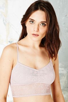 Pins & Needles Racerback Lace Bralette in Lilac - Urban Outfitters