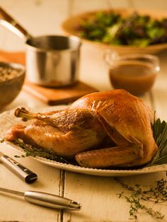 Brined Holiday Turkey with Herb Gravy - Chef Michael Smith **try his roasting method** Turkey Dishes, Turkey Recipes, Chicken Recipes, Budget Freezer Meals, Frugal Meals, Turkey Brine, Roasted Turkey, Entree Recipes, Cooking Recipes