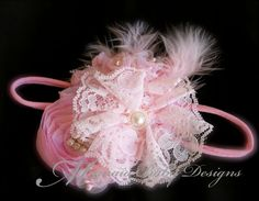 Pink Headband by ManaiaBabyDesigns on Etsy, $12.50