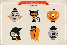 Hipster Halloween ~ Illustrations on Creative Market