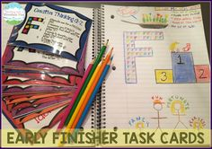 Teaching With a Mountain View: A NEW Task Card Storage Idea and Early Finisher Activities