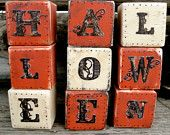Halloween Decoration Halloween Block Set by thechicadeeshop. So feakin cute Halloween Blocks, Halloween Letters, Fall Halloween, Halloween Ideas, Fall Crafts, Decor Crafts, Web Design Basics, Painted Signs, Hand Painted