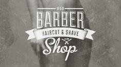 Barber Shop Vintage Label (Free Download) by Sztuchlak Gergő, via Behance