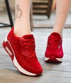 The RED running sport shoes for women is so beautiful ,very comfortable to wear,especially when do sports.Like it very much.What's more important,so cheap about it with high quality.I can wear it four seasons.Like the RED best,though the other 3 colors are also very pretty.