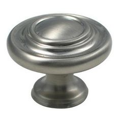 rusticware traditional satin nickel round cabinet knob 921sn