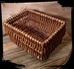 Collectible Square Wicker Basket / Bread Basket / by Flavsantiques