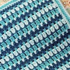 Sea Glass Tığ Afgan Desen | www.petalstopicots.com | #crochet #afghan #blanket #pattern