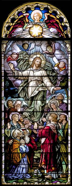 Ascension of Jesus Stained Glass Window