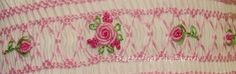 Karen's Butterflies and Faeries hand embroidered roses on smocking*