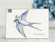 Louise Sharp | Global Design Project - Christmas Joy - Cheery Chirps | Stampin' Up! Holidays 2017, Bird Cards, Global Design, Stampin Up Cards, Christmas Cards, Challenges, Joy, Floral, Creative