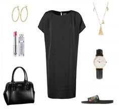 #outfit Black and Gold ♥ #outfit #outfit #outfitdestages #dresslove