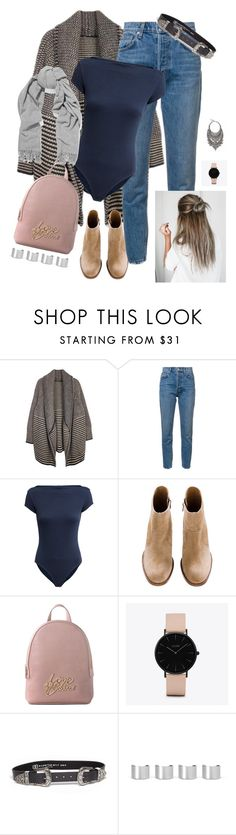"""Work"" by youngsmile ❤ liked on Polyvore featuring 10 Crosby Derek Lam, H&M, Love Moschino, CLUSE, B-Low the Belt, Maison Margiela and Acne Studios"