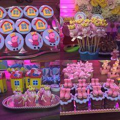 Cupcakes, trufas e brigadeiros no palito festa Peppa Princesa para  os 2 aninhos da linda Safira. ...