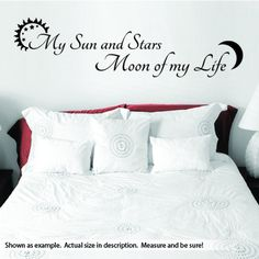 """While it started rocky, the relationship between Khaleesi and Drogo became something special. Show someone you love how you feel with this unique quote wall vinyl decal. For this wall art, each line is 7-8"""" tall x 36"""" long. That is including the sun and moon icon for each line. Unless ..."""