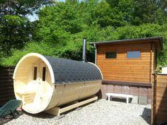 Holzfass-Sauna mit Kaminholzbefeuerung Vital Hotel, Hotels, Sauna, Park, Parks