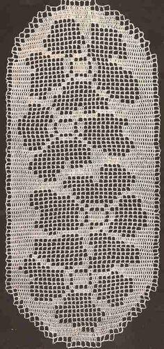 Patrón #375: Camino de Mesa Ovalado a Crochet #ctejidas http://blgs.co/SoyEa7