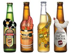 a variety of printing techniques, they add visual impact and tell the brand story in a fun, memorable way. Let's take a closer look at what's working with the Broken Tail design. Cool Packaging, Beer Packaging, Brand Packaging, Packaging Design, Wine And Liquor, Beer Label, Beer Lovers, Bottle Design, Home Brewing